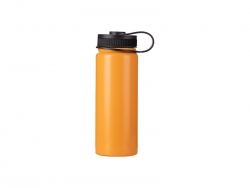 18oz/550ml Stainless Steel Flask w/ Portable Lid (Orange)