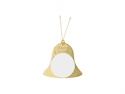 Metal Christmas Bell Ornament (Gold, 7*7.5cm)