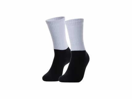 Sublimation Silver Silk Glitter Athletic Socks (Black Sole)