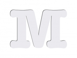 Sublimation HB Letters -M (10*10cm)