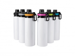 25oz/850ml Sublimation Blanks Alu Water Bottle with Color Cap (White)