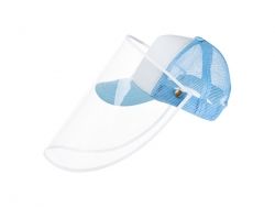 Sublimation Kids Mesh Cap w/ Removable Face Shield (Light Blue)